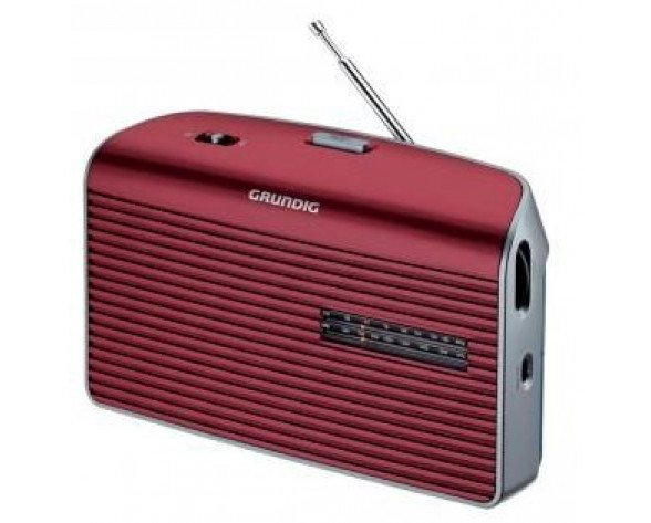 Grundig Music 60 Personal Analógica Rojo, Plata radio