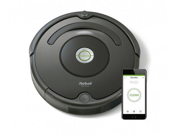 iRobot Roomba 676 aspiradora robotizada Sin bolsa Negro 0,6 L