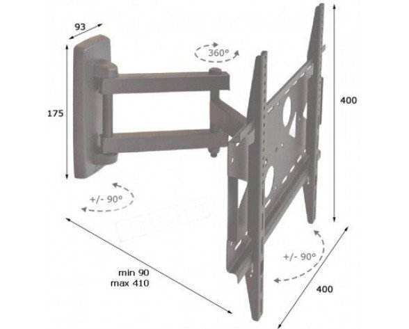 ITB AMOM06118 flat panel wall mount