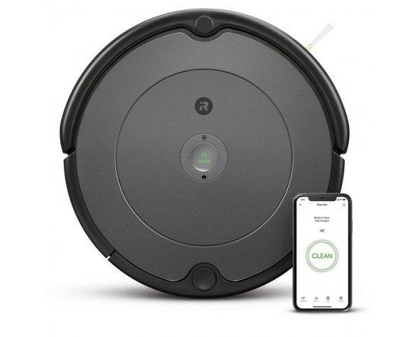 iRobot Roomba 697 aspiradora robotizada Sin bolsa Negro, Gris 0,6 L