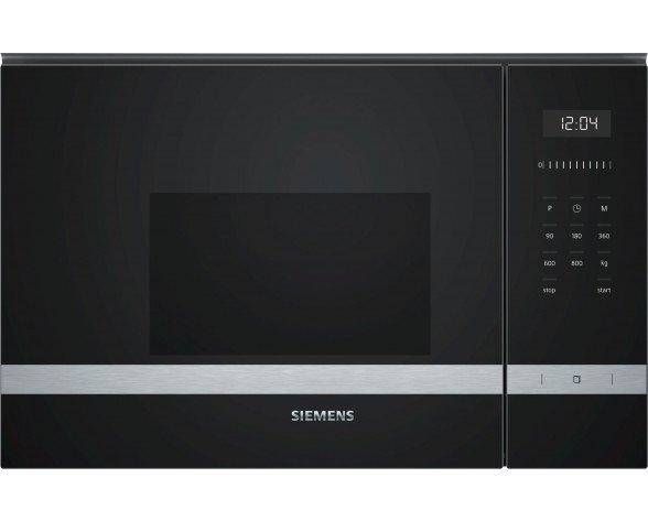 Siemens BF525LMS0 microondas Integrado Solo microondas 20 L 800 W Negro, Acero inoxidable