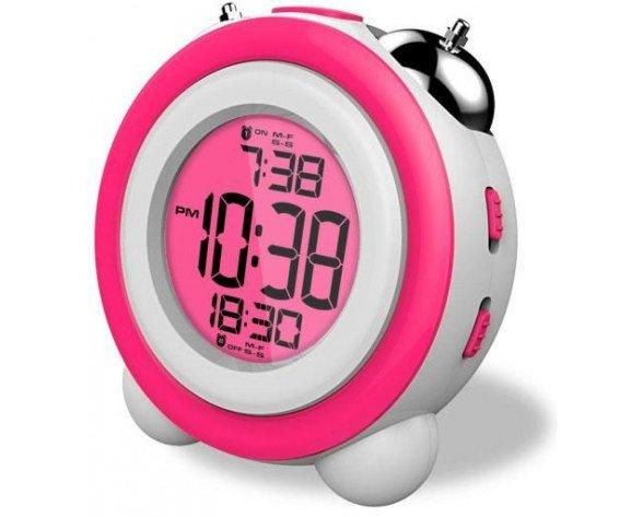 Daewoo DCD-220PK Digital alarm clock Rosa, Color blanco despertador