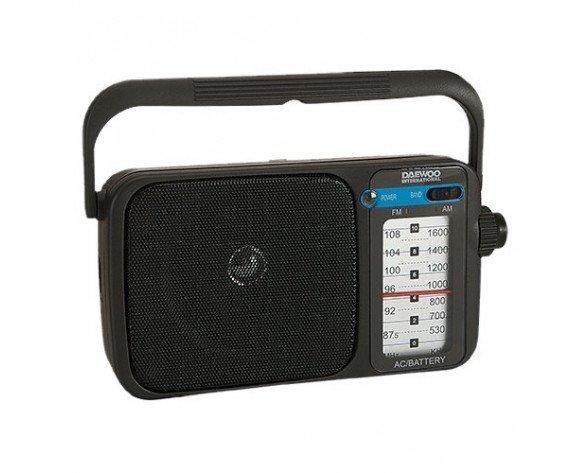 Daewoo DRP-123 radio Portátil Analógica Negro