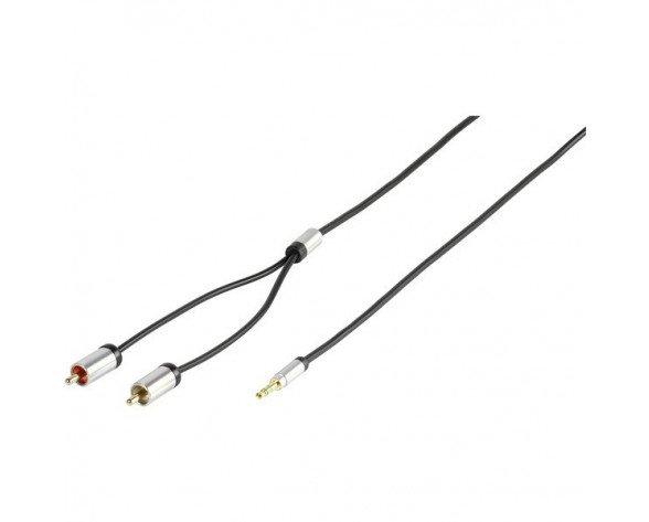 Vivanco 41202 cable de audio 1,2 m 2 x RCA 3,5mm Negro