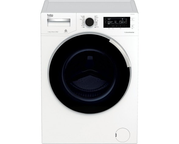 Beko WMP 11744 XW lavadora Independiente Carga frontal Negro, Blanco 11 kg 1400 RPM A+++