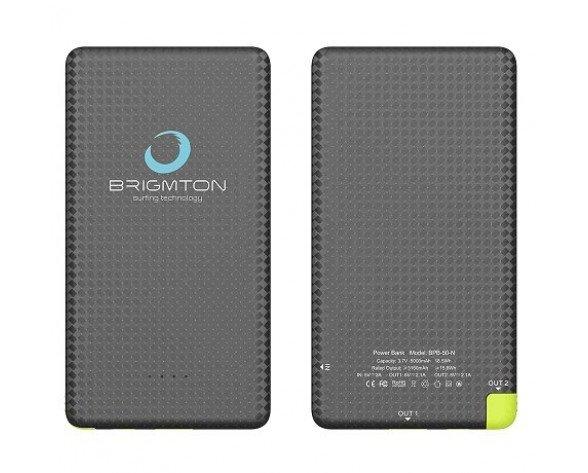 Brigmton BPB-50-N batería externa Negro 5000 mAh