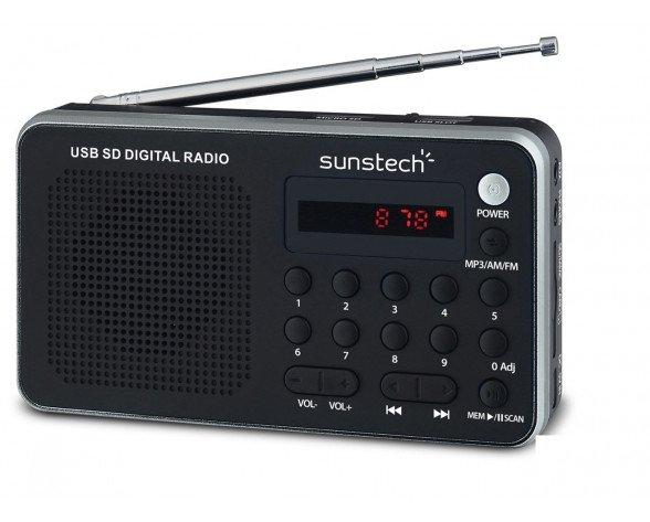 Sunstech Portable digital AM/FM radio silver