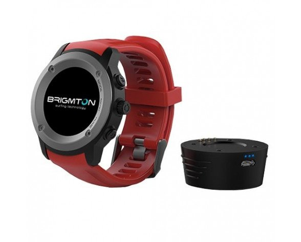 "Brigmton BWATCH-100GPS reloj inteligente IPS 3,3 cm (1.3"") Negro, Rojo GPS (satélite)"