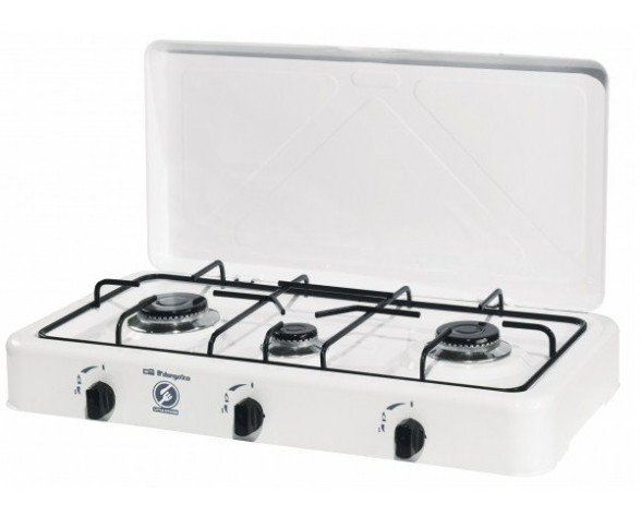 Orbegozo FO 3450 hobs Blanco Countertop (placement) Encimera de gas 3 zona(s)