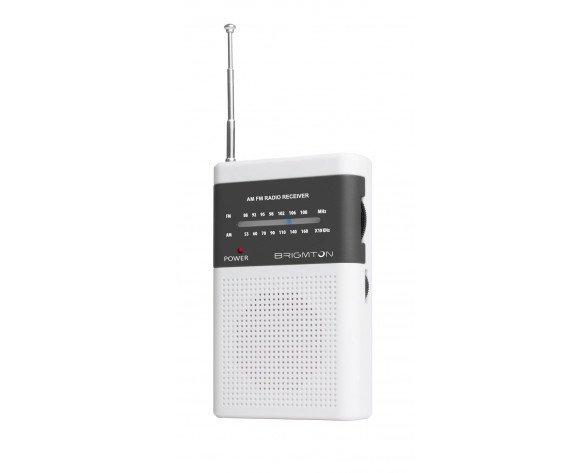 Brigmton BT-350-B radio Portátil Digital Gris, Blanco