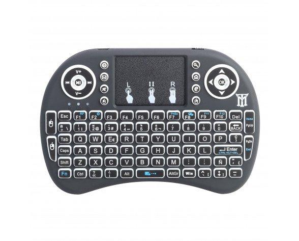 Maillon Technologique Mini teclado RF inalámbrico QWERTY Español Negro