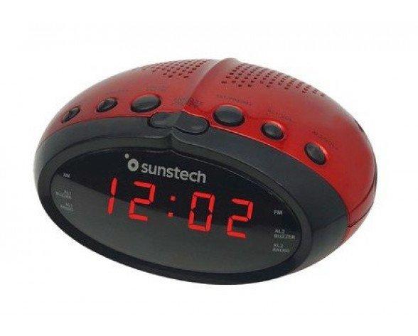 Sunstech FRD16 radio Reloj Rojo