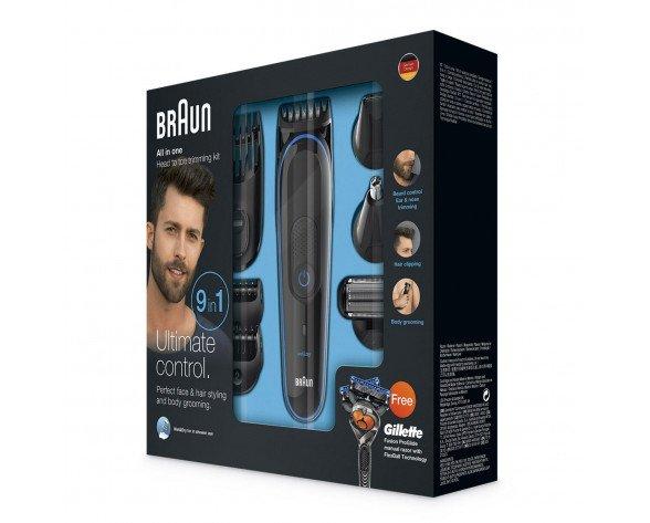 Braun MGK3980 depiladora para la barba Mojado y seco Negro