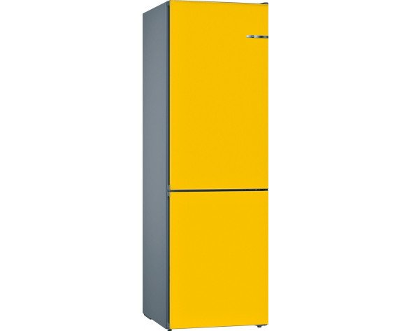 Bosch Serie 4 KVN39IF3B nevera y congelador Freestanding (placement) Amarillo 366 L A++