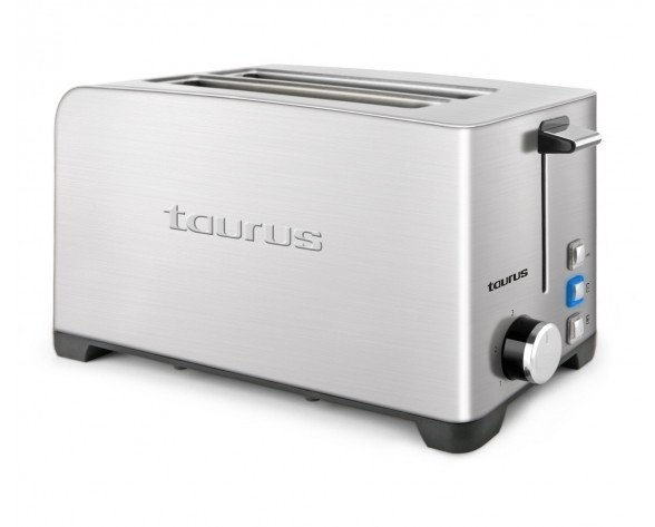 Taurus MyToast Duplo Legend 2rebanada(s) 1400W Acero inoxidable tostadora