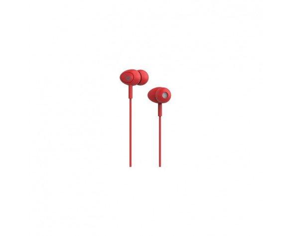 Sunstech POPS auricular con micrófono Auriculares Dentro de oído Rojo