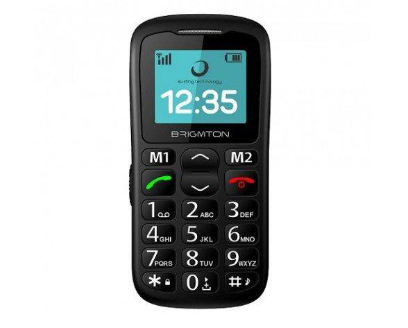 """Brigmton BTM-11 teléfono móvil 4,32 cm (1.7"""") 85 g Negro Teléfono para personas mayores"""
