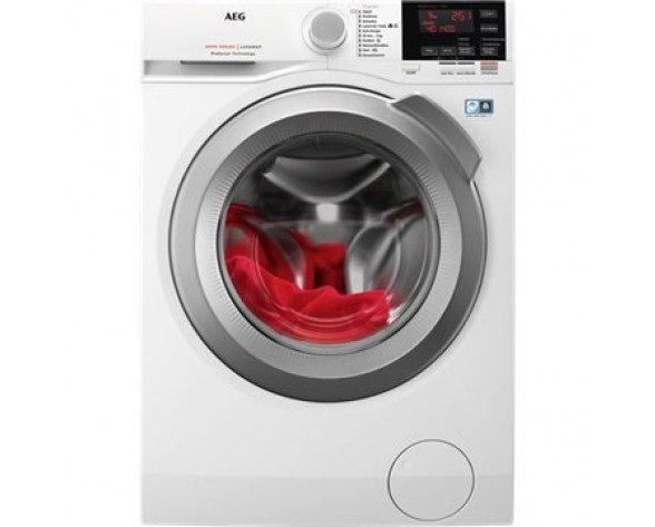 AEG L6FBG944 lavadora Independiente Carga frontal Gris, Blanco 9 kg 1400 RPM A+++-20%