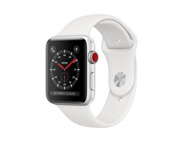 Apple Watch Series 3 reloj inteligente Plata OLED Móvil GPS (satélite)