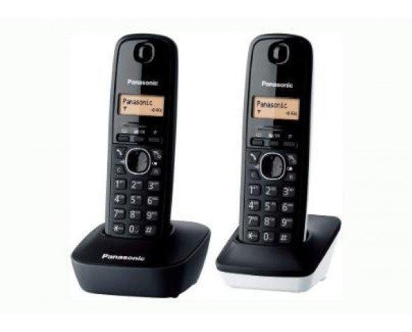 Panasonic KX-TG1612 Teléfono DECT Negro Identificador de llamadas