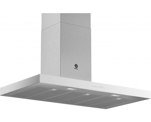 Balay 3BC097GBC campana 710 m³/h De pared Acero inoxidable, Blanco B