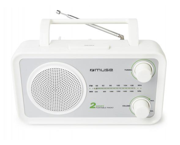 Muse M-06 SW radio Portátil Analógica Plata, Blanco