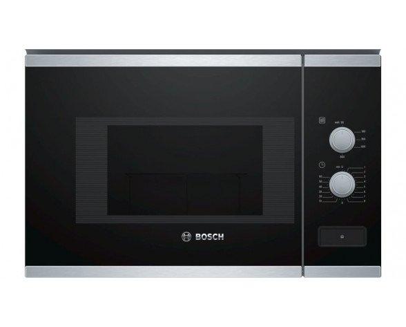 Bosch BFL520MS0 microondas Integrado Microondas combinado 20 L 800 W Negro, Acero inoxidable