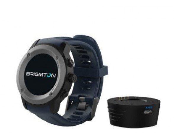 "Brigmton BWATCH-100GPS reloj inteligente IPS 3,3 cm (1.3"") Negro, Gris GPS (satélite)"