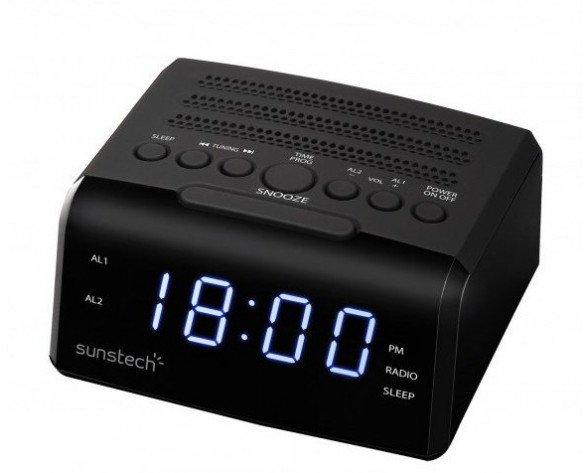Sunstech FRD35U Reloj Digital Negro radio