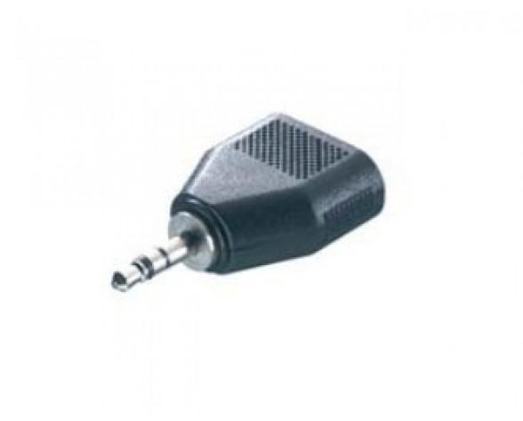 Vivanco 5/21-N cable gender changer 3.5 mm 2x 3.5 mm Negro