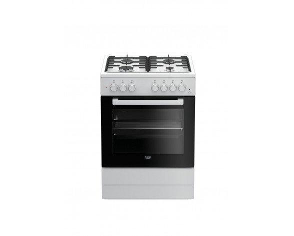 Beko FSE62110DW cocina Cocina independiente Blanco Encimera de gas A