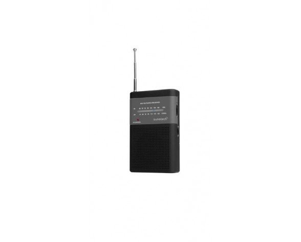 Sunstech RPS 42 BK Portátil Analógica Negro radio