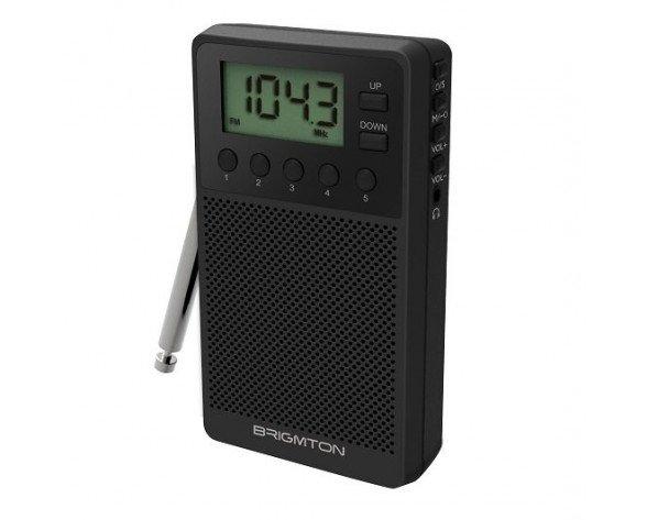 Brigmton BT-140-N radio Portátil Digital Negro