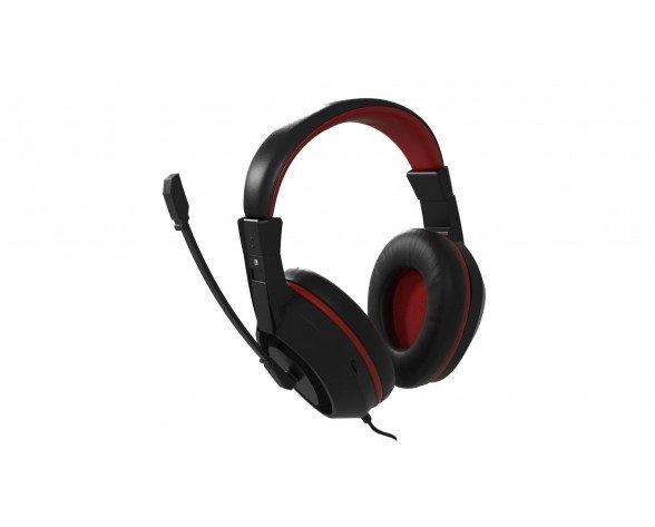 Mars Gaming MAH0+ Binaural Diadema Negro, Rojo auricular con micrófono