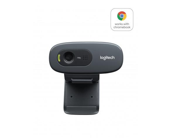 Logitech C270 HD WEBCAM cámara web 3 MP 1280 x 720 Pixeles USB 2.0 Negro
