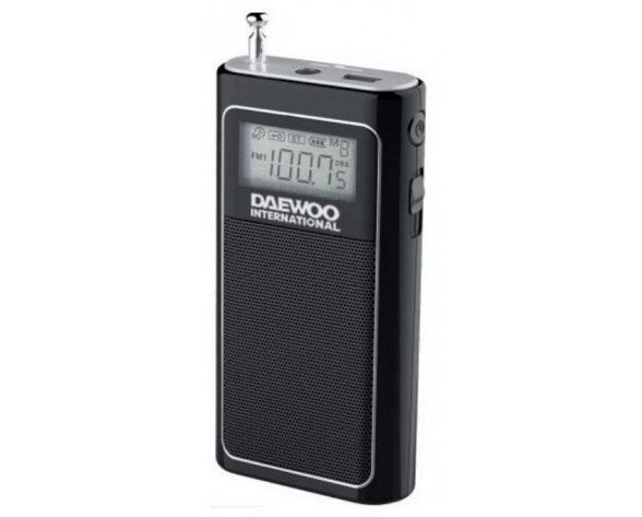 Daewoo DRP-125 Portátil Analógica Negro radio