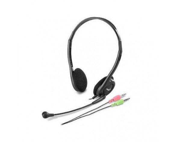 Genius HS-200C Binaural Diadema Negro auricular con micrófono