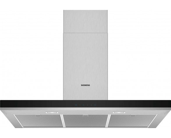 Siemens iQ300 LC96BHM50 campana De pared Acero inoxidable 604 m³/h B