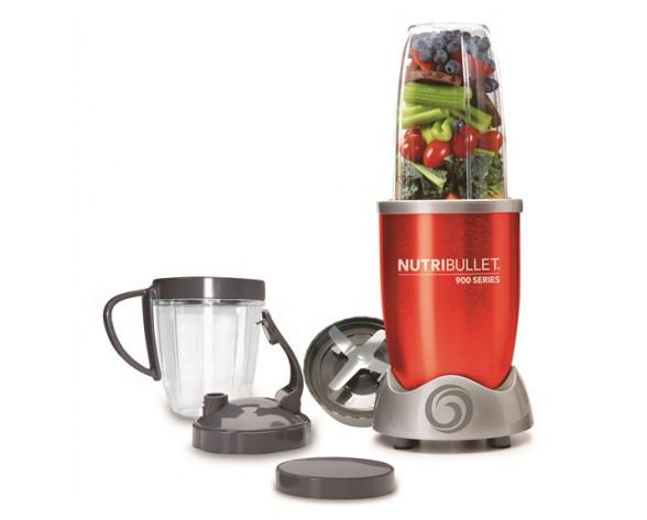 NutriBullet NB9-0928-R licuadora 0,9 L Batidora de vaso 900 W Rojo, Acero inoxidable