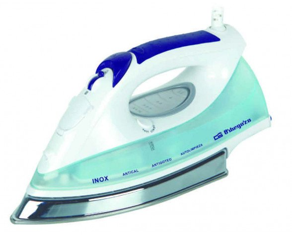 Orbegozo SV 2650 Dry & Steam iron Stainless Steel soleplate 2600W Azul, Color blanco