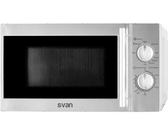 SVAN SVMW720GX microondas Countertop (placement) Microondas con grill 20 L 700 W Acero inoxidable