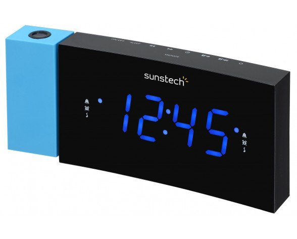 Sunstech FRDP3 radio Reloj Digital Negro, Azul
