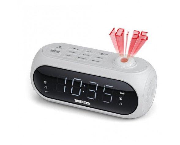 Daewoo DCP-490W radio Reloj Digital Blanco