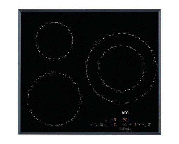 AEG IKB6330SFB hobs Negro, Acero inoxidable Integrado 60 cm Con placa de inducción 3 zona(s)