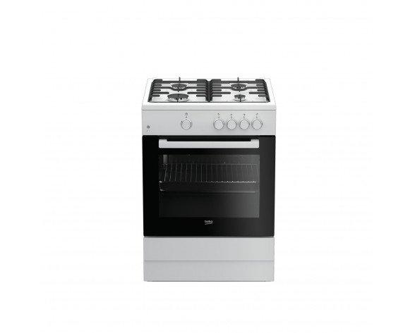 Beko FSG62000DWL Cocina independiente Encimera de gas A Negro, Blanco cocina