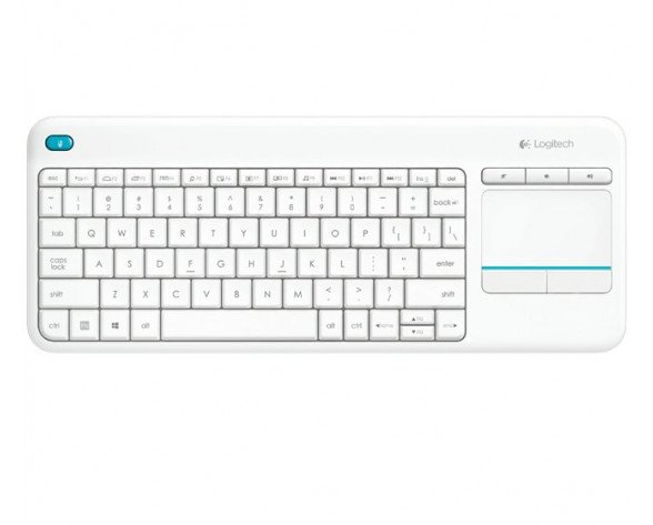 Logitech K400 PLUS RF inalámbrico QWERTY Color blanco