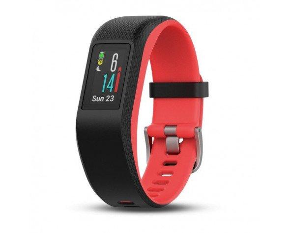 Garmin Vivosport Wristband activity tracker MIP Alámbrico/Inalámbrico Negro, Rojo