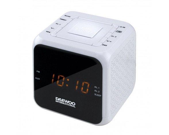 RADIO DESPERTADOR DAEWOO DCR-450B BLANCO