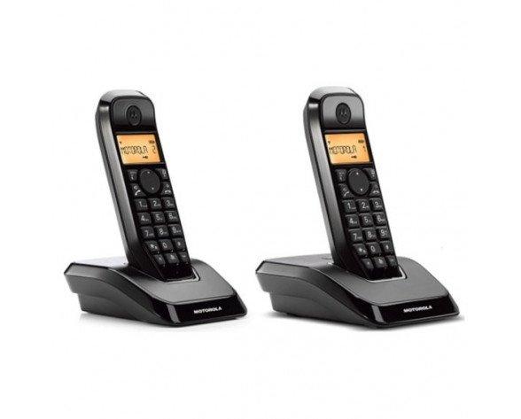 Teléfono Dect DUO Motorola S1202 Negro.