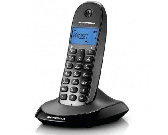 Teléfono inalámbrico  Dect Motorola C1001LB Negro